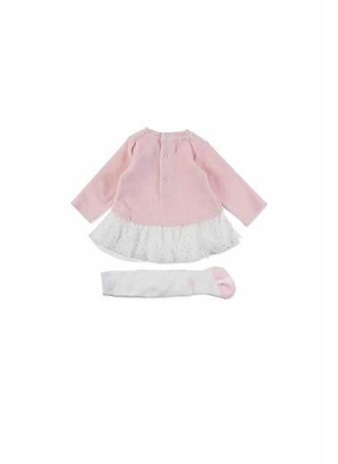Losan Little Princess Kalp Desenli Kız Çocuk Elbise Pembe